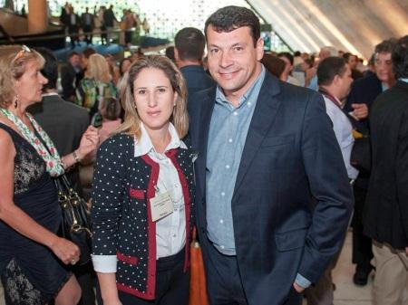 Prefeito Manu e primeira dama Ana Paula presentes no encontro em São Paulo. Foto: Evandro Ananias.