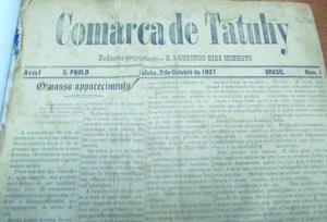Jornal antigo Comarca de Tatuhy