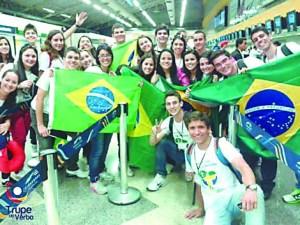 Jovens da Diocese de Itapetininga a caminho do Rio de Janeiro.