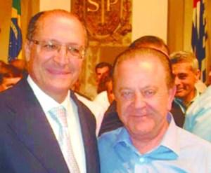 Alckmin e o ex-prefeito Gonzaga, presidente do PSDB de Tatuí.