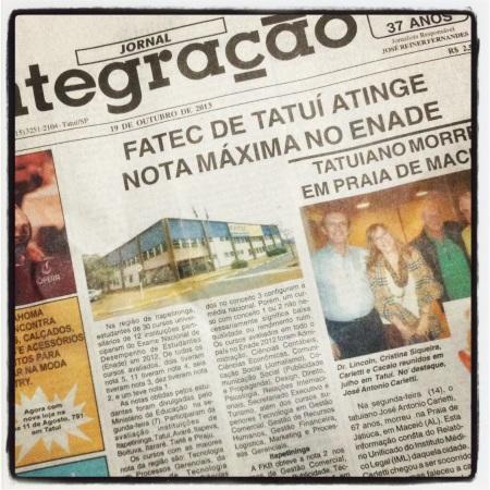 Capa - Jornal Integracao 19-10-2013