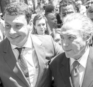Prefeito Manu e vice-presidente Michel Temer. Foto: AI/PMDB.