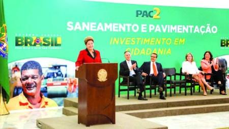 Dilma anuncia o PAC.