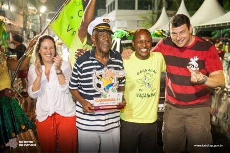 Paulo Vagalume recebe homenagem no carnaval tatuiano.