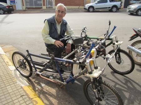 Nova invenção de Giuseppe Wolf pode transportar portadores de necessidades especiais.