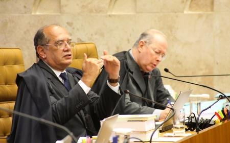 Gilmar Mendes em sessão plenária. Foto de Gervásio Baptista. STF.