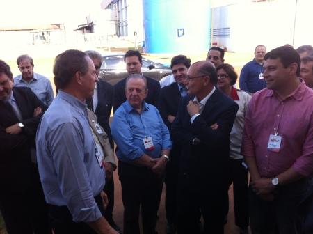 Furlan, Gonzaga e Alckmin e prefeito Manu.