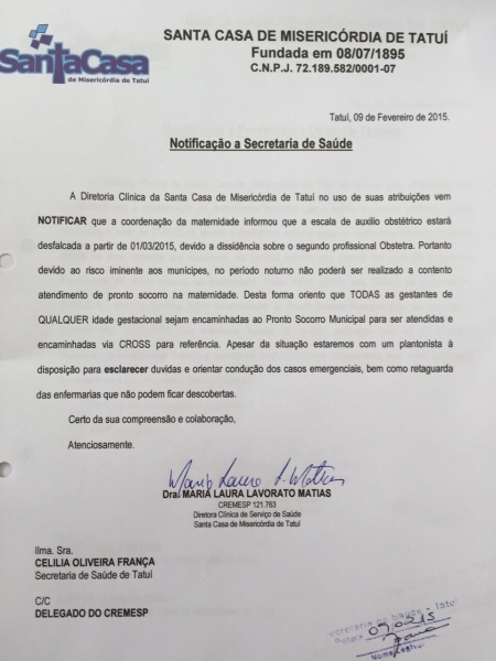 O documento da polêmica, foto site
