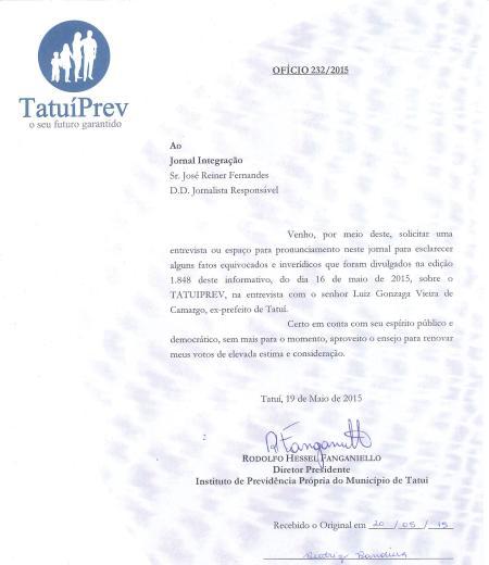 Documento Tatuiprev
