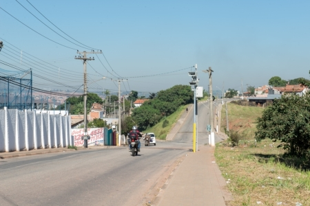 Equipamento instalado em uma das vias da cidade. Foto: Comunicação/Prefeitura de Tatuí.
