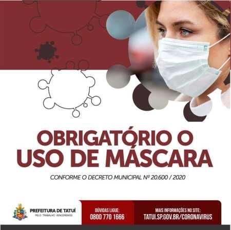 mascaras obrigatório